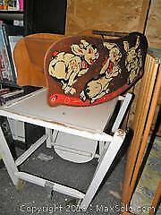Child one piece table/chair and wooden doll rocker