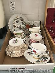 Tea Cups and Saucers A