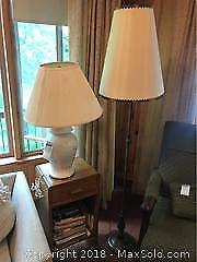 Vintage Night Table And Lamps -A