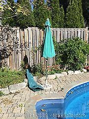 Patio Umbrella With Cover and Base