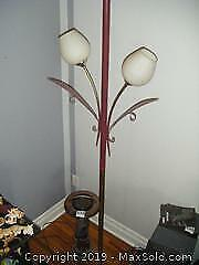 Standing Ashtray And Lamp A