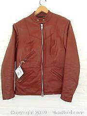 Vintage (1977) Motorcycle Cafe Racer Leather Jacket. B