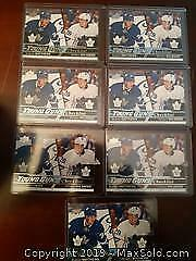 7 Auston Matthews/William Nylander Young Guns Checklists Hockey Cards