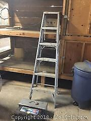 Ladder and Toolboxes A