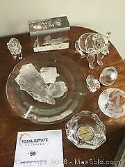 Orrefors Swiss Clock, Crystal and Glass Lot