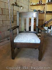 Vintage Arts and Crafts Style Chair - B
