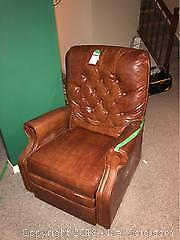Leather Like Lazyboy Chair, Table and Rocker C