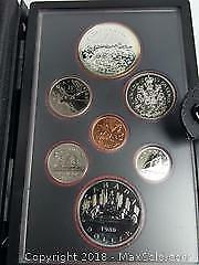 1980 Canada Silver Double Dollar Coin Set Mint Polar Bear