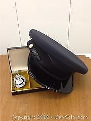Vintage Police Badge And Cap