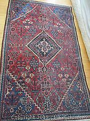Antique, Hand Woven, All Wool, Persian Tabriz Rug.