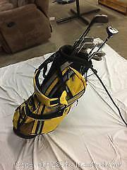 brand new King Cobra golf Bag with used Tommy Armour golf clubs