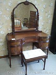 Antique Vanity & stool