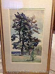 Watercolor signed Freda Johnston C