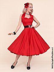 Vivien of Holloway 1950's style Burgundy circle dress