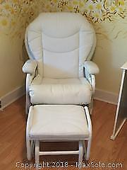 Glider Rocker And Foot Stool B