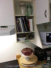 Cookbooks, Teapot, Teacup, Glass Storage, Cake Plate, Lazy Susans A