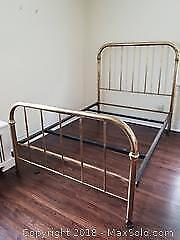 Vintage Double Brass Bed