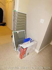 Window Screens, Filters, Garbage Can - A