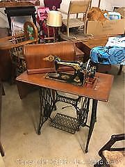 Antique Singer Sewing Machine A