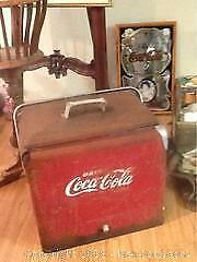 Coca Cola Cooler Metal Old