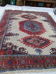 Persian All Wool, Hand Woven VISS (Wiss) Rug. Heavy Thick Rug. large Size.