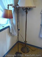 Two Vintage Floor Lamps. -A