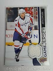 John Carlson Game Used Jersey Hockey Card Special Insert