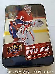 Upperdeck Hockey Card Lot With Tin