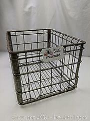 Vintage Dairy Lea Wire Milk Delivery Crate