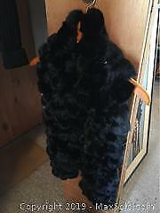 Rabbit Fur Jacket And Scarf A
