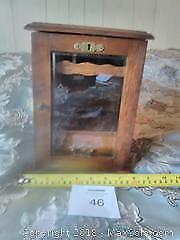 Antique pipe tobacco cupboard with key