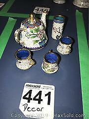 Chinese Cloisonne Tea Set and more A