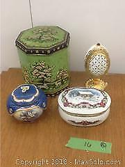 Musical Trinket Boxes And Vintage Tin