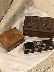 Carved Wooden Boxes And More A