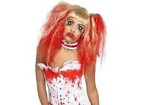 BLOODY NURSE LONG BLONDE FANCY DRESS WIG GREAT FOR HALLOWEEN ALSO HAVE OUTFIT FOR SALE