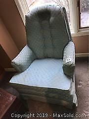 Upholstered Rocking Arm Chair B