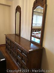 Dresser with Two Mirrors C