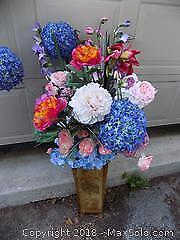 Faux Flowers and Vase