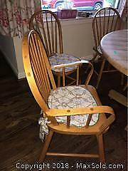 Six Oak Chairs - C