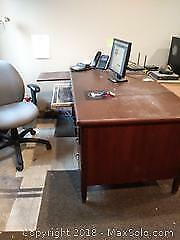 F. Vintage Computer Desk And Chair C