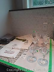 Crystal Wine Glasses, Antique Pressed Glass Champagne Glasses and More A