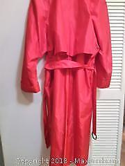 Trench Coat. Alfred Sung Label. Hot Pink