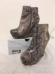 Snake Skin Style Womens Boots