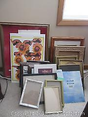 Collection Of Picture Frames And Prints A