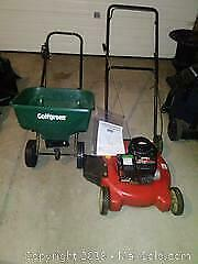 Lawn Mower and Seed Spreader A