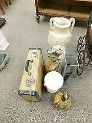 Vintage Suitcase, Sea Shells, Vases and More A
