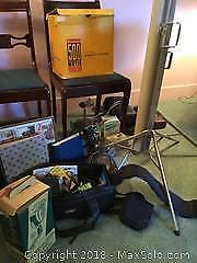 Vintage Movie Projector And Equipment