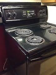 "Open this MONDAY 9am to 6pm   \ \  BLACK  Frigidaire Coil Top STOVE   / /  Used Appliance ""SALE""   9267 - 50 Street"