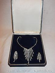 Sherman-Germany ladies necklace and earrings set in box