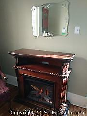 Fireplace And Antique Mirror C